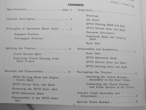 IH Farmall 400 450 Live Independent PTO Service Manual IH GSS-1034 IPTO BRSM