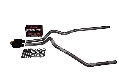 "Chevy Silverado GMC Sierra 15-18 2.5/"" Dual exhaust Flowmaster Super 10 weld tips"