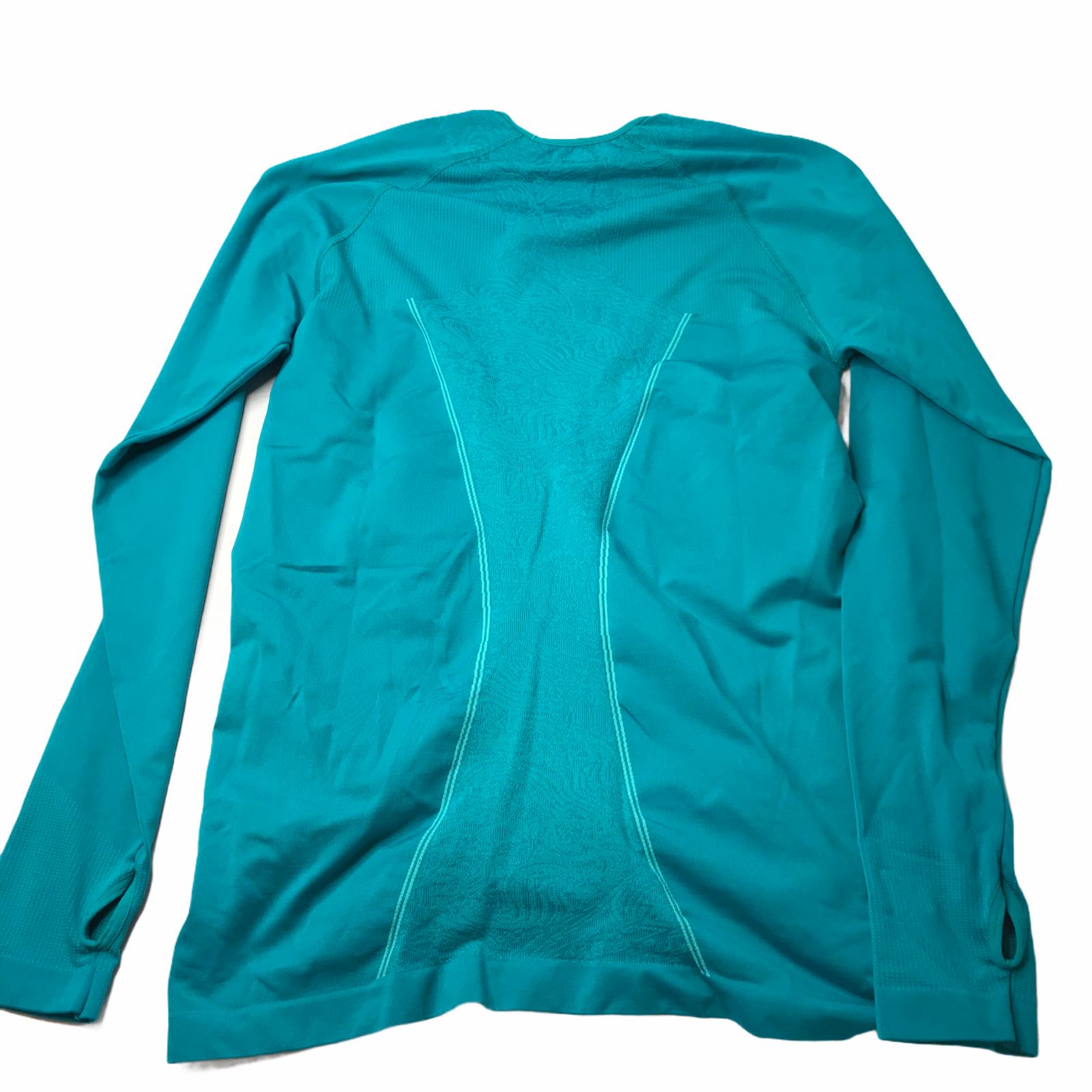 Title Nine Long Sleeve Shirt Teal Green Size Women's Large Nylon Polyester