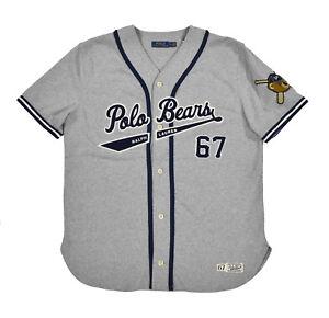 781ac4931addd Ralph Lauren Polo Bears Vintage RL 67 Baseball Jersey Shirt New