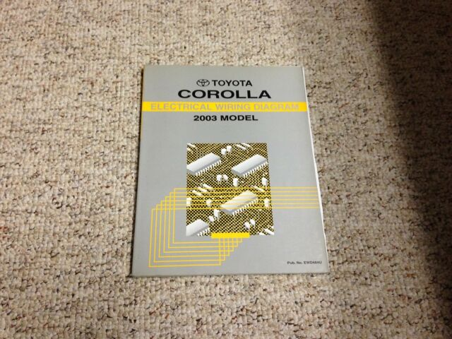 2003 Toyota Corolla Electrical Wiring Diagram Manual Ce S