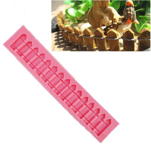 Garden Fence  Fondant Silicone Mold Sugar Craft Cake Decorating Tools Baking DIY