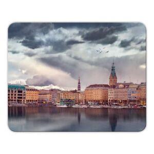 Mousepad-034-Hamburg-034-24x19cm-Rathaus-Alster-Hansestadt-Binnenalster