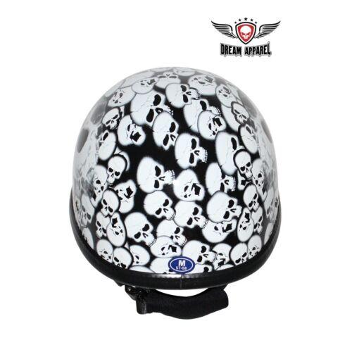 New White Eagle Helmet with Skull Graveyard Non D.O.T.