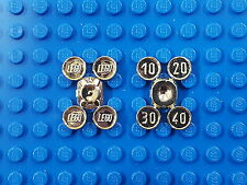 LEGO Lot of 2 Chrome Gold Coins Complete Set SPRUE $10/20/30/40 Part #70501c01