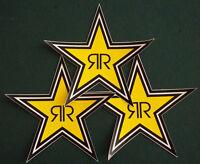 Rockstar Energy Drink Lot 3 Star Sticker 7 Team Racing Free Fast Shipping