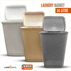 Large-Rattan-Laundry-Bin-Basket-Washing-Clothes-Toy-Accessory-Storage-Hamper-54L