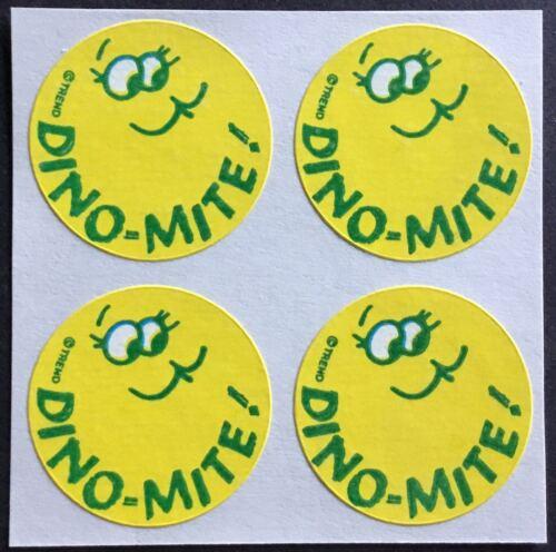 4 Block Vintage Trend Matte Scratch /& Sniff Stickers Orange Mint!!