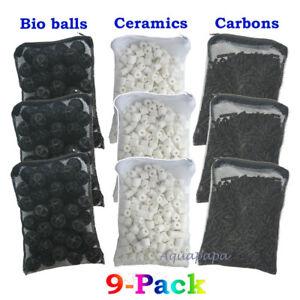 3 Lb (environ 1.36 Kg) Charbon Actif +150pcs Bio Balles + 3 Lb (environ 1.36 Kg) Céramique Anneaux Pour Aquarium Filtre-afficher Le Titre D'origine Sang Nourrissant Et Esprit RéGulateur