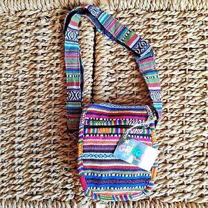 Gringo-Shoulder-Bag-Handbag-Fair-Trade-Unisex-Festival-Hippy-Boho-Manbag-Travel