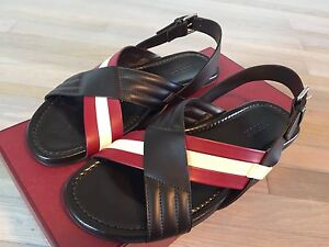 9633d0a2e8f3 525  Bally Verlon Brown Leather Sandals size US 12 Made in Italy ...