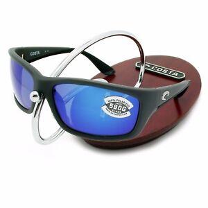 7481e94926c NEW Costa Del Mar JOSE Matte Gray   580 Blue Mirror Glass 580G ...