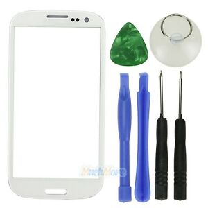 26c21b6c2701b0 White Replacement Front Screen Glass Lens Kit For Samsung Galaxy S3 ...