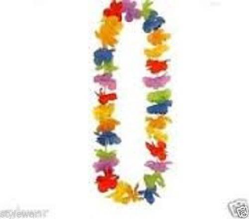 New Adult Straw Hat Beach Lei Garland Glasses Hula Hawaiian Hen Stag Fancy Dress