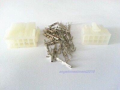 New 10sets 12 Way Pin 4.2mm 5557 5559 12P Connector Plug Socket Kit