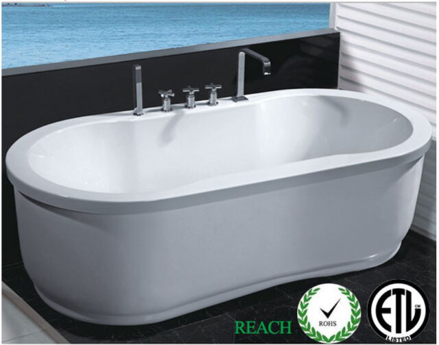 Indoor Computerized Jetted Bathtub Whirlpool Hydrotherapy Hot Tub Spa White For Sale Online Ebay