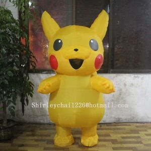 Image is loading Adults-Kids-Inflatable-Pikachu-Costume-Pokemon-Cosplay -Halloween- & Adults Kids Inflatable Pikachu Costume Pokemon Cosplay Halloween ...