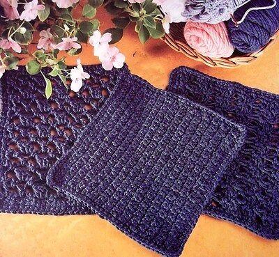 NEW Original Crochet Designs~3 Sampler Blocks Patterns~Ideal For Afghans