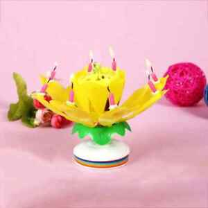 Image Is Loading Plastic Double Layer Rotary Blossom Lotus Flower Music