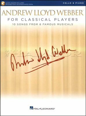 Andrew Lloyd Webber For Classical Players Cello Book/audio Same Day Dispatch Klanten Eerst