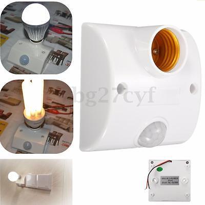 E27 Automatic PIR Infrared Motion Sensor LED Light Lamp Holder Control Switch