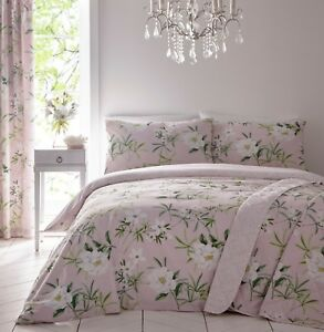 Dreams-amp-Drapes-Florence-Reversible-Easy-Care-Duvet-Cover-Bedroom-Range-Blush