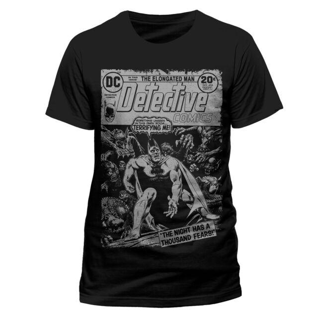 OFFICIAL DC COMICS BATMAN - A THOUSAND FEARS COMIC COVER BLACK T-SHIRT (NEW)