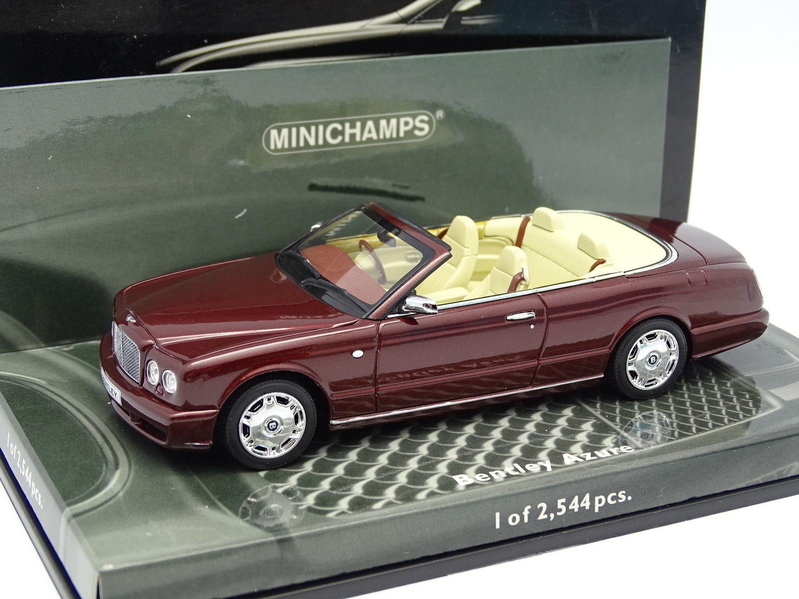 Minichamps 1   43 - bentley Blau rot