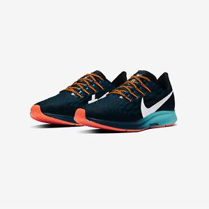 Nike-Air-Zoom-Pegasus-36-Laufschuhe-UK-9-us-10-eur-44-Schwarz-Dunkelgruen