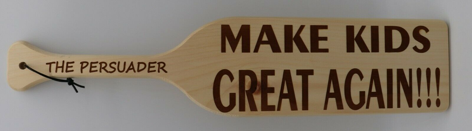 LASER ENGRAVED SPANKING PADDLE THE BOARD OF EDUCATION PARENTAL CONTROL NEW