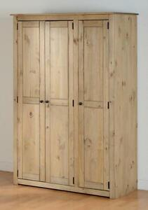 Charmant Image Is Loading Panama 3 Door Pine Wardrobe Panama Solid Wood