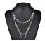 UK Lock Chain Necklace Layered Padlock Pendant Eboy Fashion Gothic Jewellery
