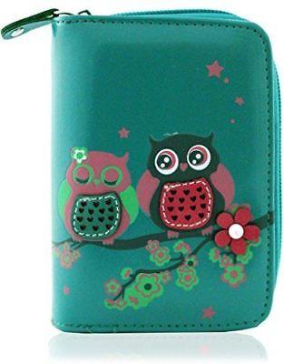 KukuBird Owl Couple In Love Pattern Large Ladies Purse Clutch Wallet