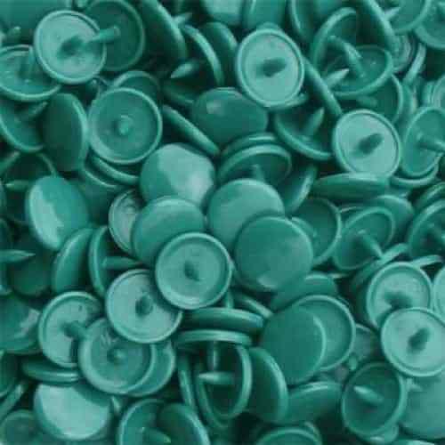 100 Juegos Brillo KAM Snaps-Talla 20-B29 Verde Azulado