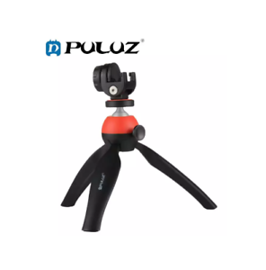 PULUZ-PU365-Pocket-Mini-Tripod-Mount-with-360-Degree-Ball-Head-amp-Phone-Red