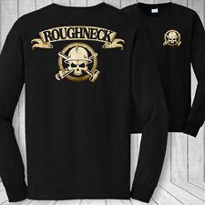 Oilfield worker long sleeve t-shirt oil roughneck patriotic superhero tee shirt