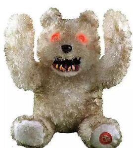 Image Is Loading Animated Creepy Smile Teddy Bear Prop Decor