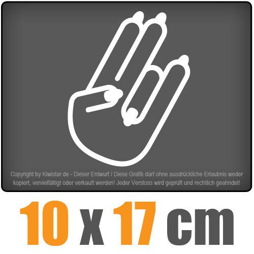 The Shocker Hand weiblich 10 x 17 cm JDM Decal Sticker Aufkleber Racing Die Cut