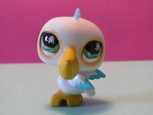 petshop oiseau pelican blanc turquoise / white bird N° 797