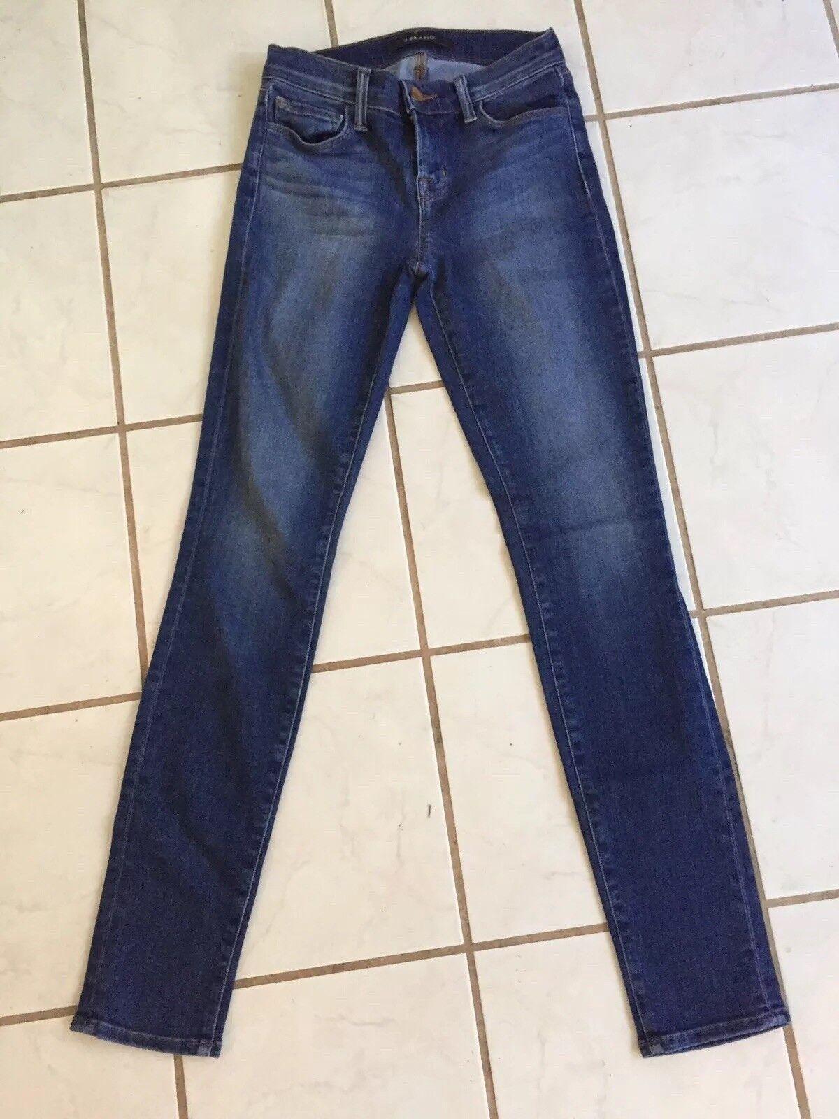 J Brand Mid Rise Medium Wash Skinny Leg Stretch Jeans in Imagine Sz 24