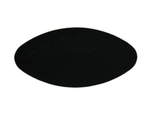 Fussstopfen 40 x 20mm oval schwarz lang Ovalrohr Rohr Stopfen Fusskappen Stuhl