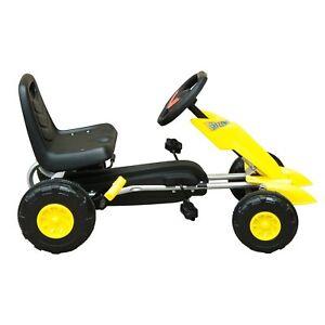 Go-Kart-Coche-de-Pedales-Juguete-para-Ninos-3-5-anos-Normativa-EN-71-con-Freno