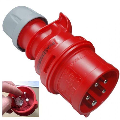 CEE Stecker Phasenwender-Drehstromstecker 16A 380//400V,5pol PCE 7015-6