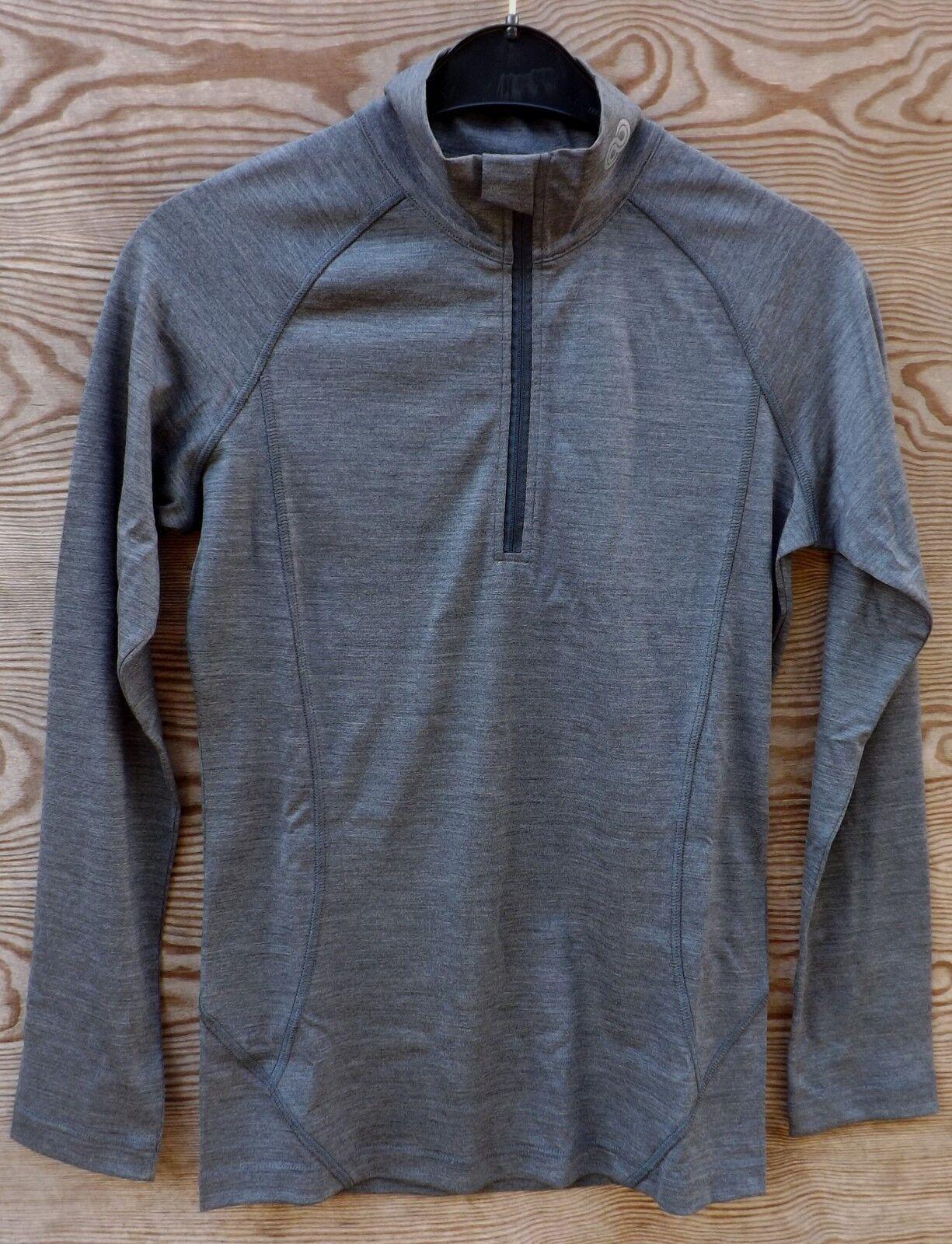 Reda rewoolution Lindsey-Women's Merino  Half Zip Longsleeve 190, Charcoal  online shopping