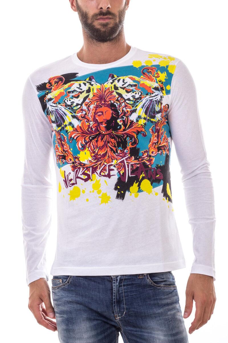 Versace Jeans Tank Top T hemd REGULAR Baumwolle Herren Weiß B3GOA782 3