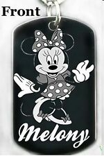 MINNIE MOUSE - Dog tag Necklace or Key chain + FREE ENGRAVING