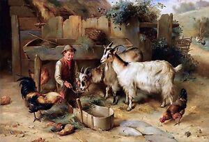 Arthur Elsley, Farm, Goats and Chickens, Barn, Little Girl ...