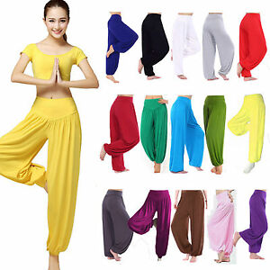 5331911e79655 Women Baggy Harem Pants Trousers Aladdin Hippie Ali Baba Yoga Gym ...