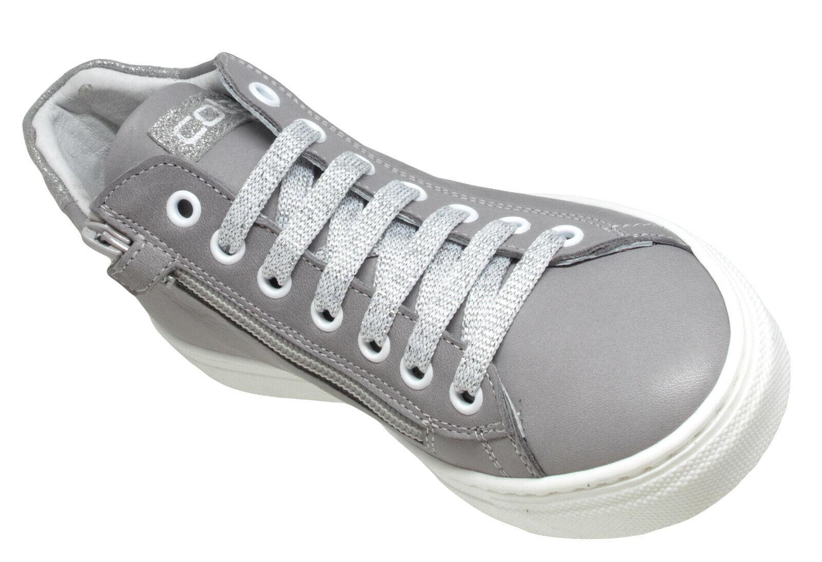 Cole Bounce Restore 2307A Leder Sneaker Mädchen Teens grau
