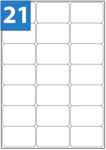 A4 Address Labels White Sheets Sticky Self Adhesive Inkjet Laser Printer WTP